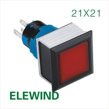 ELEWIND 22mm illuminated push button switch (PB223PF-11ZD/R/12V/IP65)