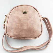 2017 Handbag Phone Purse Women Small Bag Imperial Crown PU Leather Women Shoulder Bag Small Shell Crossbody Bag Brand Designer