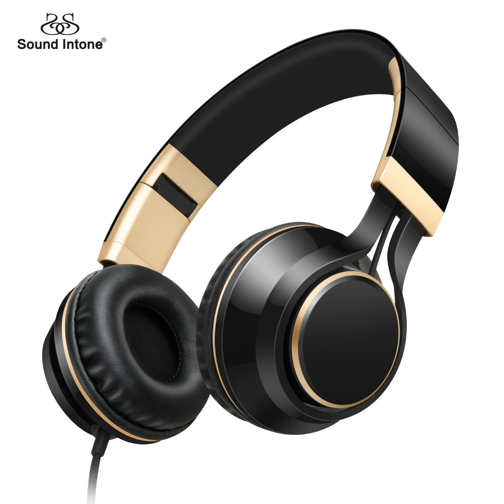 Sound Intone I58 Wired 3.5MM headphones with Mic Stereo Headsets Volume Control Strong bass for Smartphone Iphone Xiaomi Samsung<br><br>Aliexpress