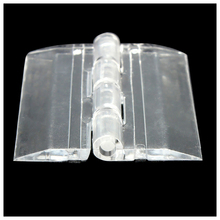6x Transparent Acrylic Plastic Hinges Box Piano Acrylic Hinge 45x38mm