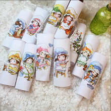 Mix 11pcs country girl hand dyed hat girl DIY patchwork handmade cloth digital printing cloth 15*15cm(China)