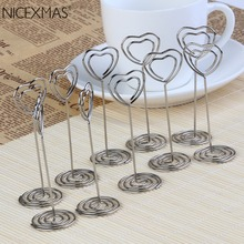 10pcs Place Card Holder Heart Star Shape Place Card Holders Wedding Decoration Favors Name Card Holder(China)
