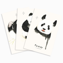 3 Sheets/pack Lovely Postcard greeting card Post Cards animals printing panda cute journey design school supplies(China)