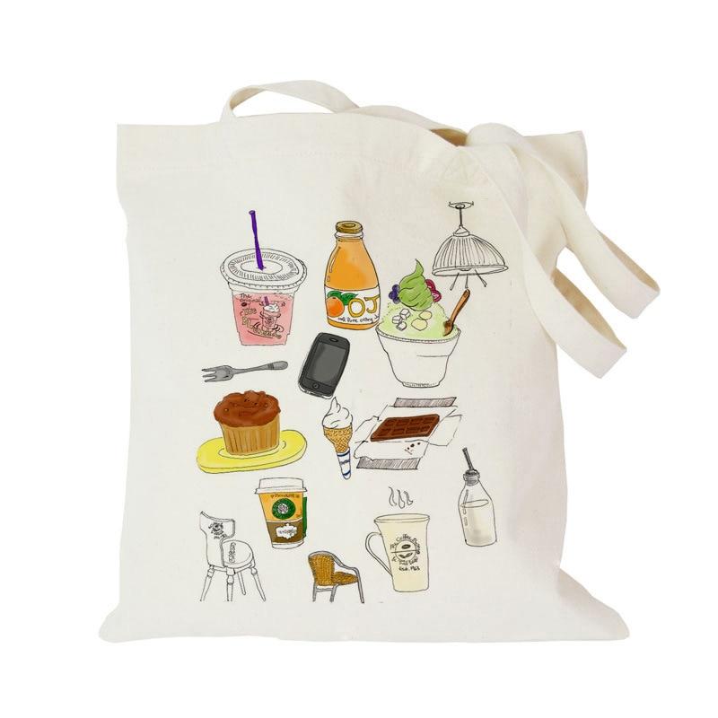 2016 Eco-friendly Handbag Canvas Shoulder Bag Cartoon Printing Female Cloth Bag Women Shopping Tote Bag Print Beach Bag JXY307<br><br>Aliexpress