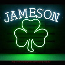Jameson Irishh Whiskey Neon Sign Neon Bulb Led Signs Shop Display Custom Real Glass Tube Handcrafted Decorated Attract Sign18x14