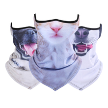 Animal Cat Dog Neck Half Face Mask Tube Bicycle Balaclava Scarf Winter Snowboard Halloween Headband Headscarf Bandana
