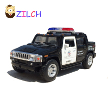1:40 H2 SUT 12.5x5x4.5cm High imitation transport alloy Pickup police car model pull back toy for children Collection