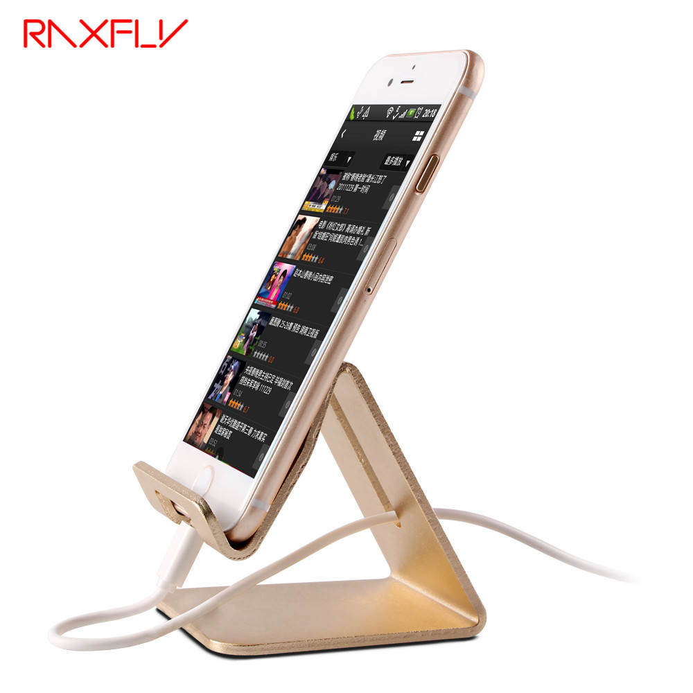RAXFLY Universal Aluminum Metal Cell Phone Tablets PC Desk Stand Holder Support Bracket For iPhone 6 6S 5S SE For Galaxy Note 5(China)