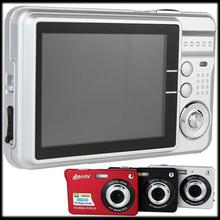 "by DHL or EMS 20 pieces HD Digital Camera 16MP 2.7"" TFT 4X Zoom Smile Capture Anti-shake Video Camcorder alloy"