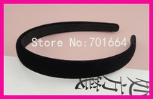 10PCS 15mm Black Velvet Fabric Covered Plain Plastic Hair Headbands with black velvet back,BARGAIN for BULK
