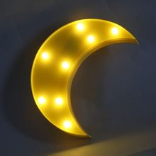 Fashion Led Moon Shape Night Light Sign Star Table Lamps Romantic 3D Wall Lamp Kids Children Home Decoration Gift LED Light