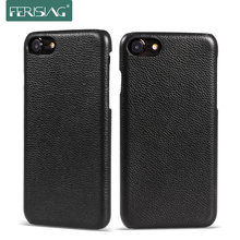 FERISING Luxury Vintage 100% Real Genuine Cow Leather Phone Case for iPhone7 Back Cover for iphone 7 Cowhide leather Case P004(China)