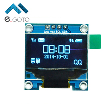 "0.96 inch Blue OLED Display Module IIC Serial 128X64 I2C SSD1306 12864 LCD Screen Board GND VCC SCL SDA 0.96"" for Arduino"