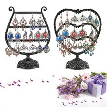 GENBOLI Cup/Heart Jewelry Holder Vintage Metal Earrings Necklace Ring Rack Organizer Storage Stand Rack For Jewelry Display(China)