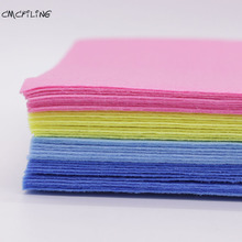 CMCYILING 1mm Thickness Polyester Cloth Felt Crafts Felt Fabrics For Needlework Diy Handmade Sewing Home Decor Material 20 Sheet
