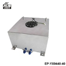 Hubsports - 40L Aluminium Fuel CELL TANK polished Twin AN-10 outlets 10 Gal HU-YX9440-40