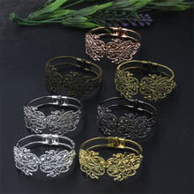 1 Piece Metal Bangles 7 Colors Plated Brass Material Vintage Cuff Bangle(China)