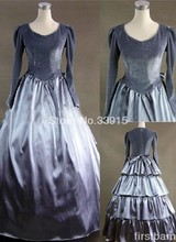 Custom Made Nobiliary Grey Gothic Victorian Dress Prom Gown Marie Antoinette Baroque Colonial Waltz Masquerade Dress Costume