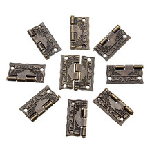 MTGATHER 50pcs 1 Inch Antique Wooden Gift Box Hinge Printing Packaging Zinc Alloy 26 x 23mm With Screw Wooden Box Hinge