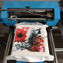 A3 size DIY T-shirt Flatbed printer Digital Printing machine for printing T-shirt Cloth With Heat Function