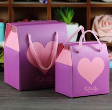 20PCS Portable Heart Printing Gift Bags With Handles Gift Bag For Chocolate Wedding Birthday Christmas Party Packing bags