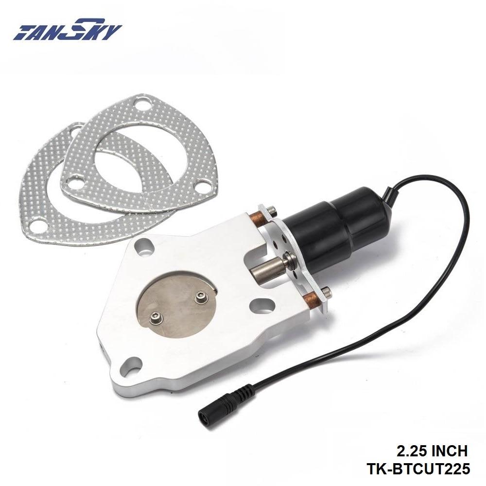 "TANSKY- 2.25"" Electric Exhaust Cutout Remote Control Motor Kit For GM Chevy Chevrolet CAMARO/FIREBIRD 67-69 TK-BTCUT225"