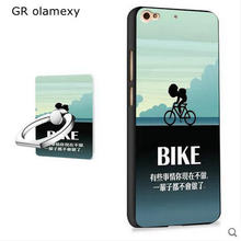 GR olamexy Free Shipping Ring Holder + Draw Cartoon Painting TPU Case for BLU Vivo 5 five Mobile cell Phones Shell Covers