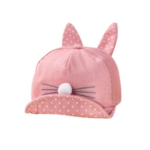 Summer Cute Newborn Toddler Girl Boy Rabbit Ear Cat Baby Hat Kids Cat Caps Snapback Dots Cap