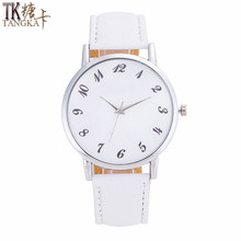 TANGKA new fashion branded watch women watches quartz white clock needle buckle leather strap Watch for women Birthday gift(China)