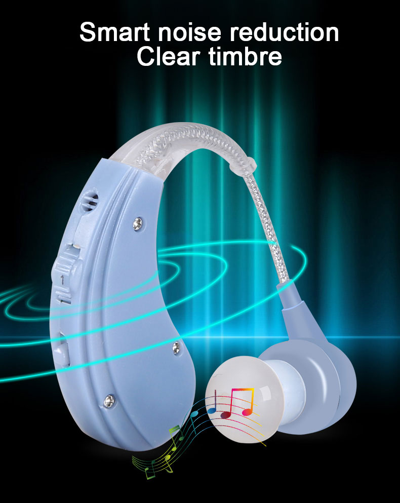 Micro USB Hearing Aids BTE Sound Amplifiers Invisibility Ear Care Tools For Hearing Loss Rechargeable Digital Behind Hearing Aid 5
