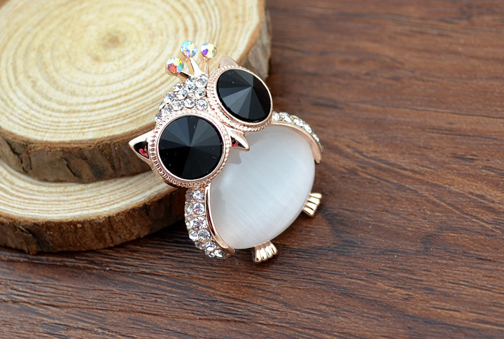 opal owl brooches 1