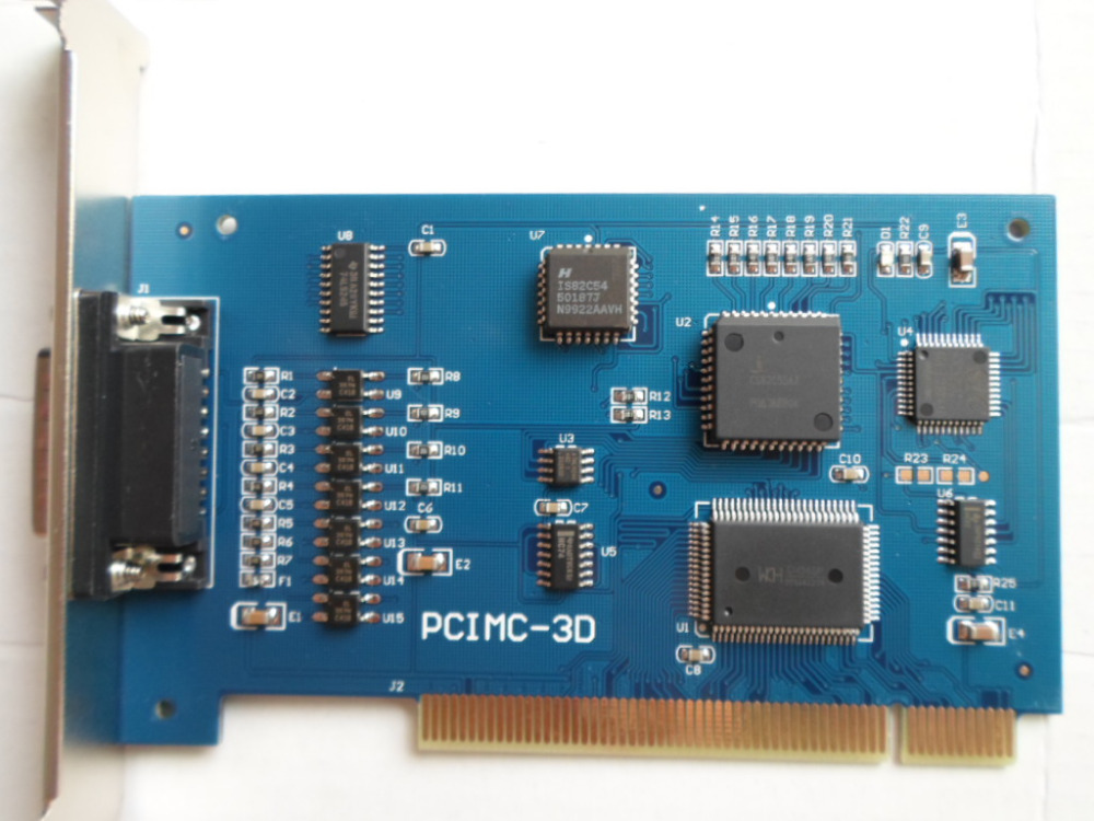 Nc Studio Card 3 Axis Pci Motion Control Card Cnc Engraving Machine Router Engraver Motion Control Board  <br>