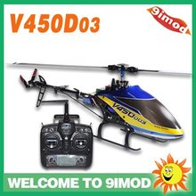 New! Walkera V450D03 with DEVO 7 RTF 6 Axis Gyro Flybarless Big Helicopter(China)