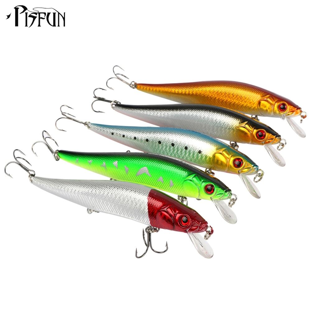 Pisfun 5pcs/lot Hard Bait Minnow 14cm Artificial Plastic Hard Lures Fishing lures Fish Bait<br><br>Aliexpress