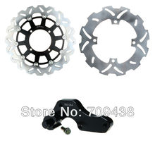 Oversize 320mm Front Rear Brake Disc Rotor & Adaptor Bracket For KAWASAKI KX125 KX250 KX 125 250 03-05 2003 2004 2005