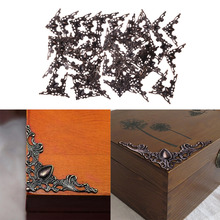 50pcs Bronze Jewelry Box Gift Wine Case Book Scrapbook Album Corner Decorative Protector for Wooden Boxes Jewelry Cases Decor
