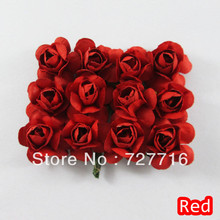 Free shipping-Gift packing scrapbook flower / Artificial paper rose flower / mulberry flower 144pcs/lot