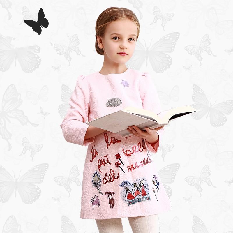 Long sleeved girls dress custom Sequin children spring princess dress  nubao slim high-end brand childrens clothing<br>