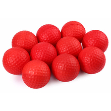 10pcs Golf ball for Golf training Soft PU Foam Practice Ball - Red(China)