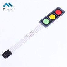 1x3 Matrix Array Membrane Switch Keypad 3 Keys Red Green Yellow Keyboard 1*3 Keys Display Switch Control Panel For DIY(China)