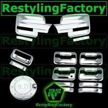 09-14 For Ford F150 Chrome Mirror+4 Door Handle+keypad+no PSG KH+Tailgate+GAS Cover