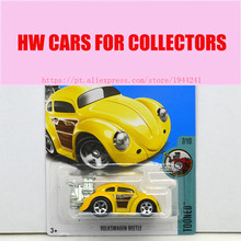 2017 Hot Wheels 1:64 Yellow Volkswagen Beetle Metal Diecast Car Model Collection Kids Toys Vehicle For Children Juguetes(China)