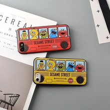 Soft TPU Silicone Cute Cartoon Sesame Street Bus Phone Case Covers Candy for iPhone 6 6sPlus 7 7 plus Color Phone Back Cover(China)