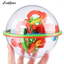 Fulljion Magic Ball Maze 3D Intellect IQ Toy Board Game Orbit Balls Puzzle Brain Teaser Learning Educational Toy For Children
