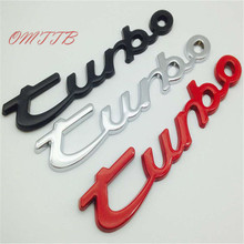 3D Chrome Turbo Emblem Badge car Sticker Silver Red Black Rear Front Turbo sticker For Porsche Cayenne Macan Panamera 911 718