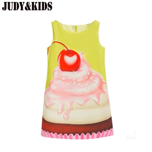 Summer Dresses For Girls Sun Dress Child Sundress Cake Print Princess Clothes Ballroom Dress Child Dresses For 6 Years For Girls
