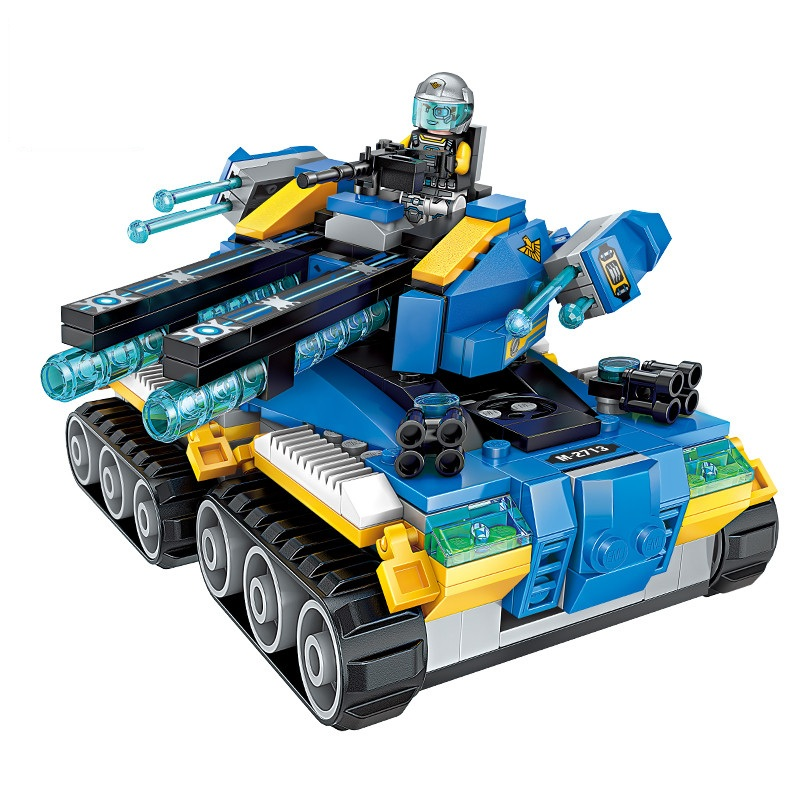 Enlighten-Building-Block-High-Tech-Era-Apocalypse-Tank-4-Figures-398pcs-Educational-Technic-Bricks-Toy-For
