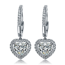 Faultless Lovely 1.5Ct/piece SONA Synthetic Diamonds Earrings for Women Top Quality 925 Silver White Gold Color Wedding Earrings