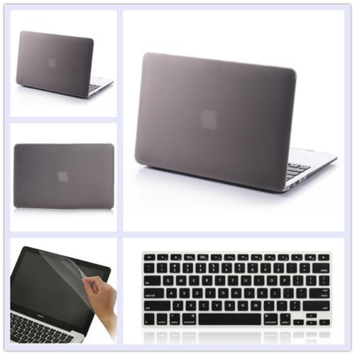 3in1 Gray Matte Rubberized Hard Case Cover(11 colors)+Keyboard Cover+Film For Apple Macbook Pro 13 inch A1278 Free Shipping<br><br>Aliexpress