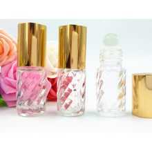 Empty MINI Glass Perfume Bottle 4ml Roller on Refillable Perfume Bottle Promotion Makeup Containers Freeshipping DC763